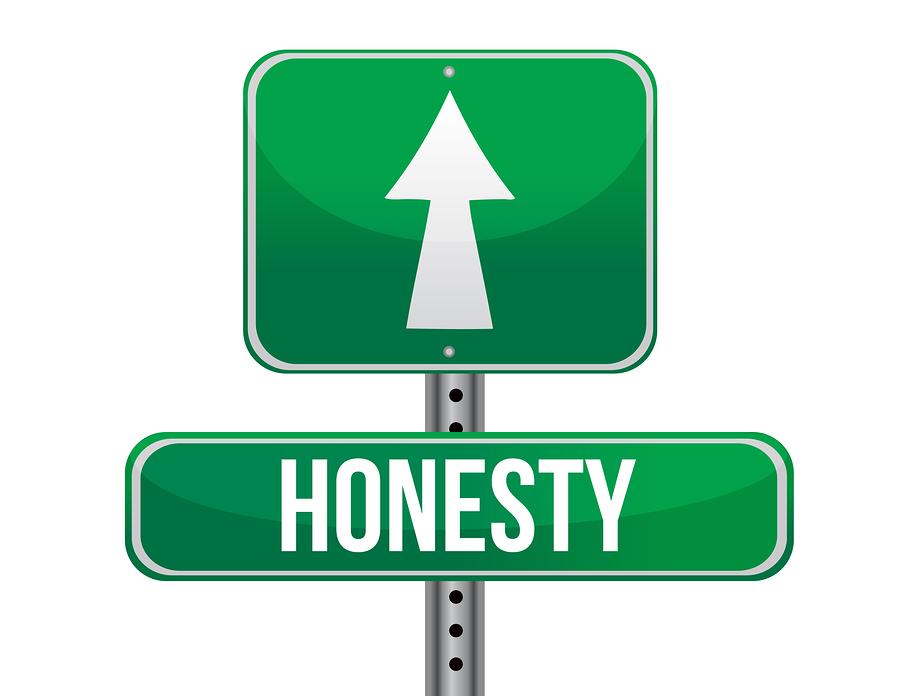 Honesty Road Sign Illustration Design